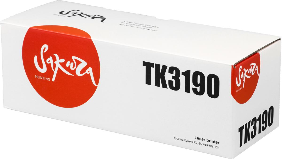 Sakura TK3190, Black тонер-картридж для Kyocera Mita ECOSYS p3055dn/p3060dn