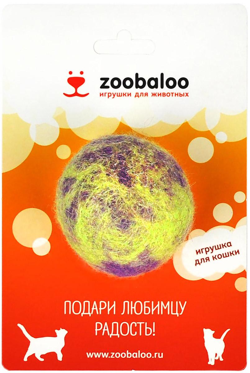 Игрушка для животных Zoobaloo Шерстяной мяч Фьюжн, цвет: фиолетовый, зеленый. 363 авторская игрушка котямба ручная работа ku15