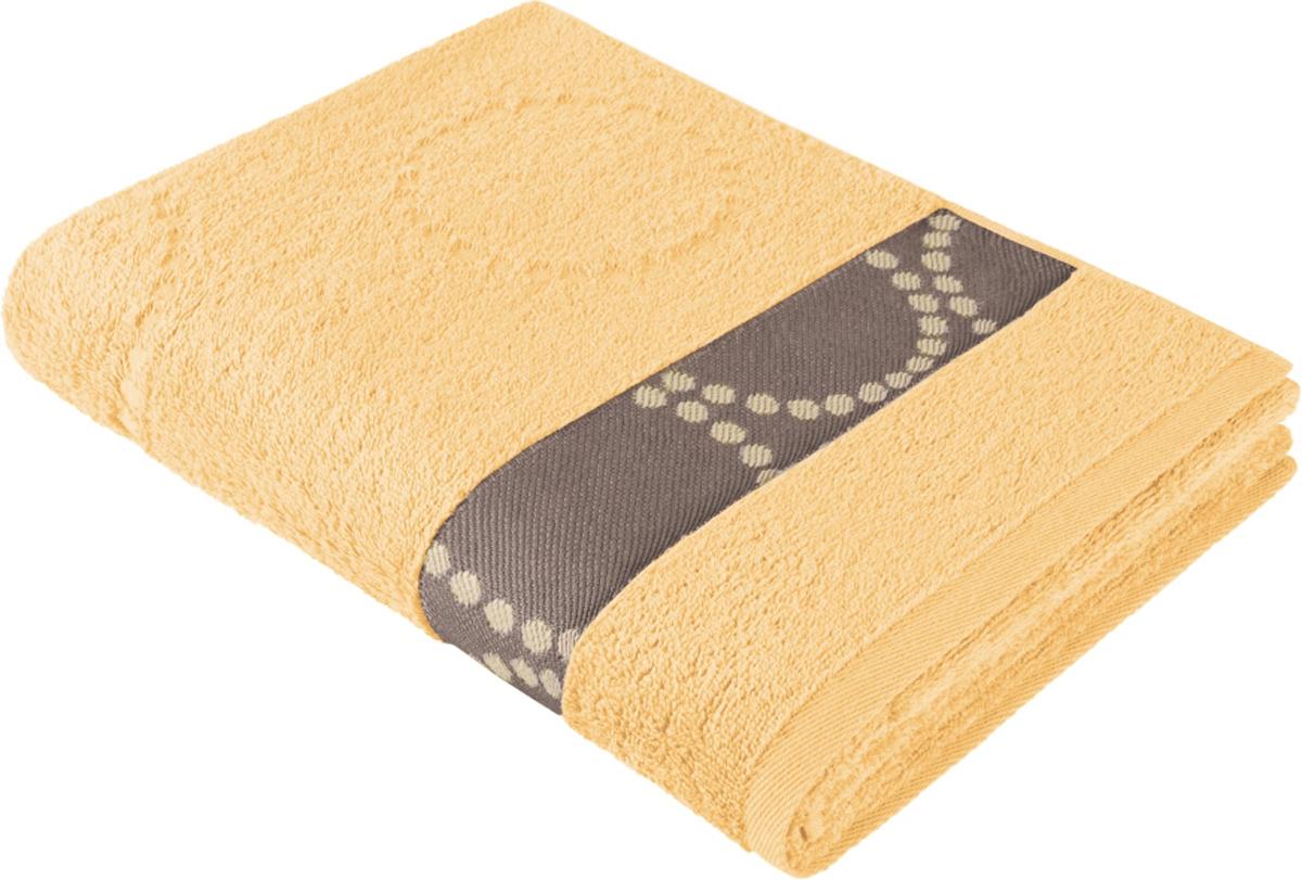 Полотенце махровое Aquarelle Таллин 2, цвет: светло-желтый, 70 x 140 см полотенце махровое aquarelle волна цвет ваниль 70 x 140 см