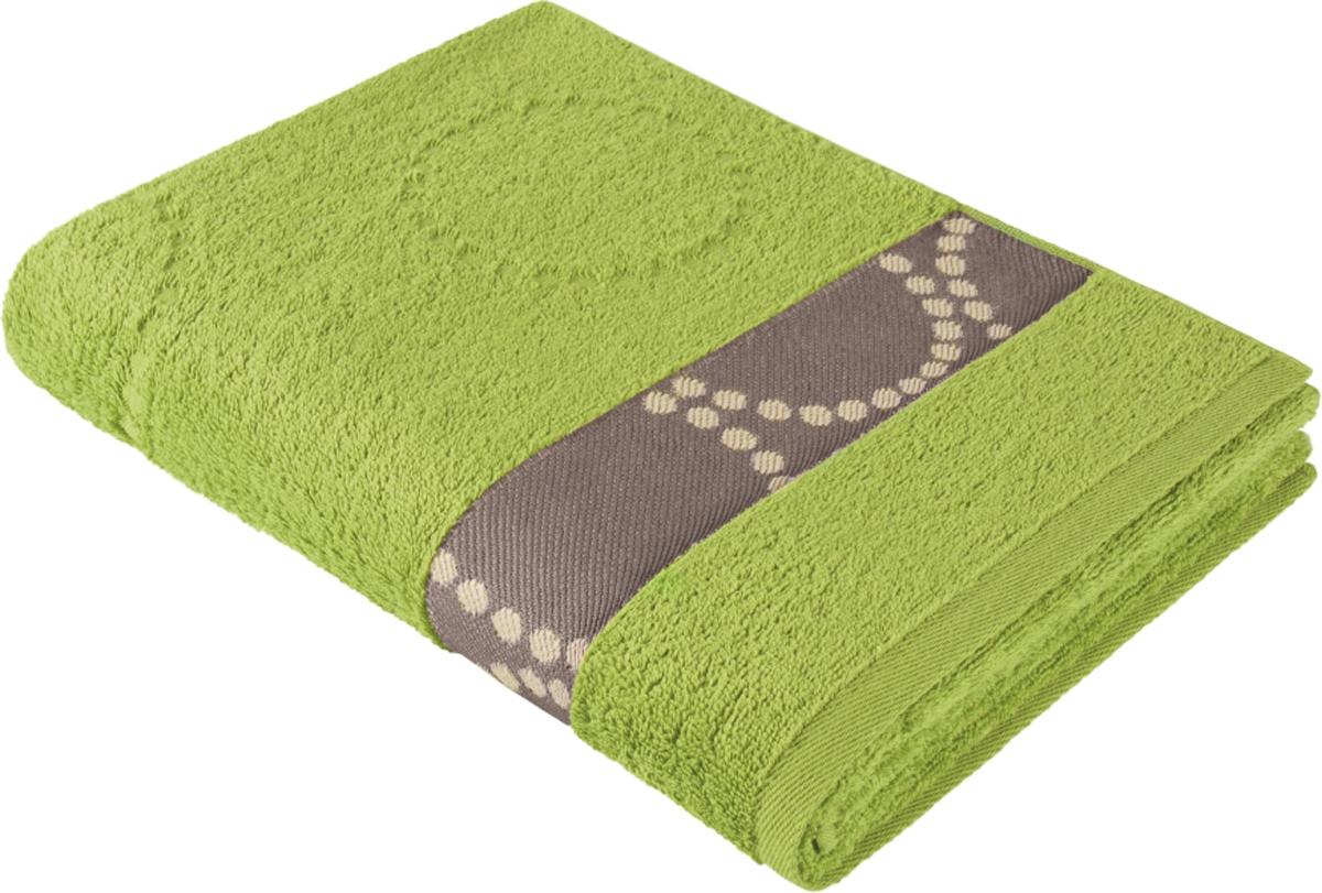 """Полотенце махровое Aquarelle """"Таллин 2"""", цвет: травяной, 70 x 140 см"""