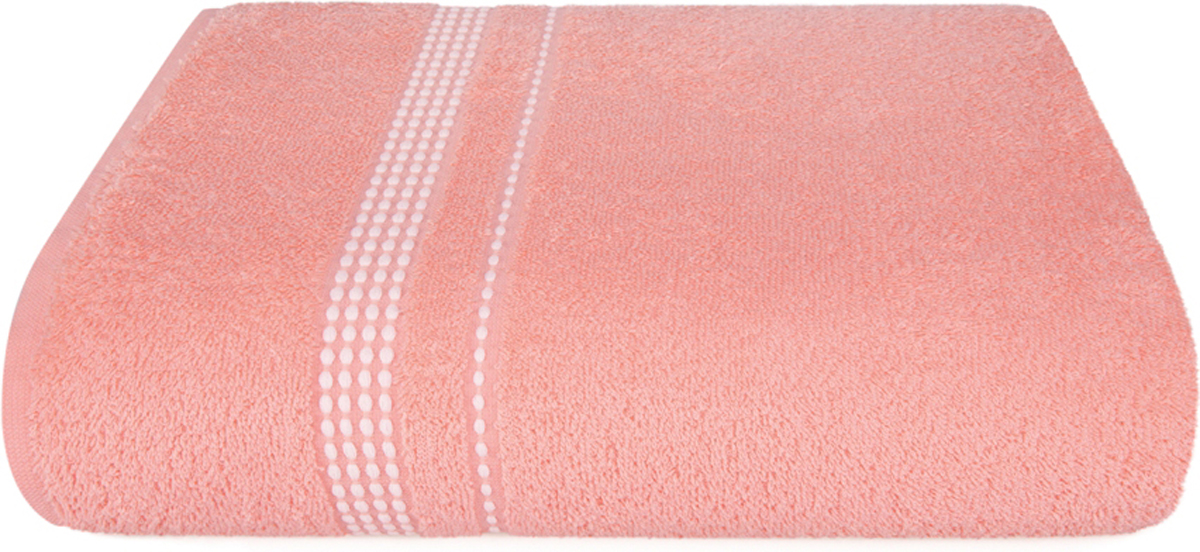 Полотенце махровое Aquarelle Лето, цвет: розово-персиковый, 40 x 70 см полотенце махровое aquarelle волна цвет ваниль 70 x 140 см
