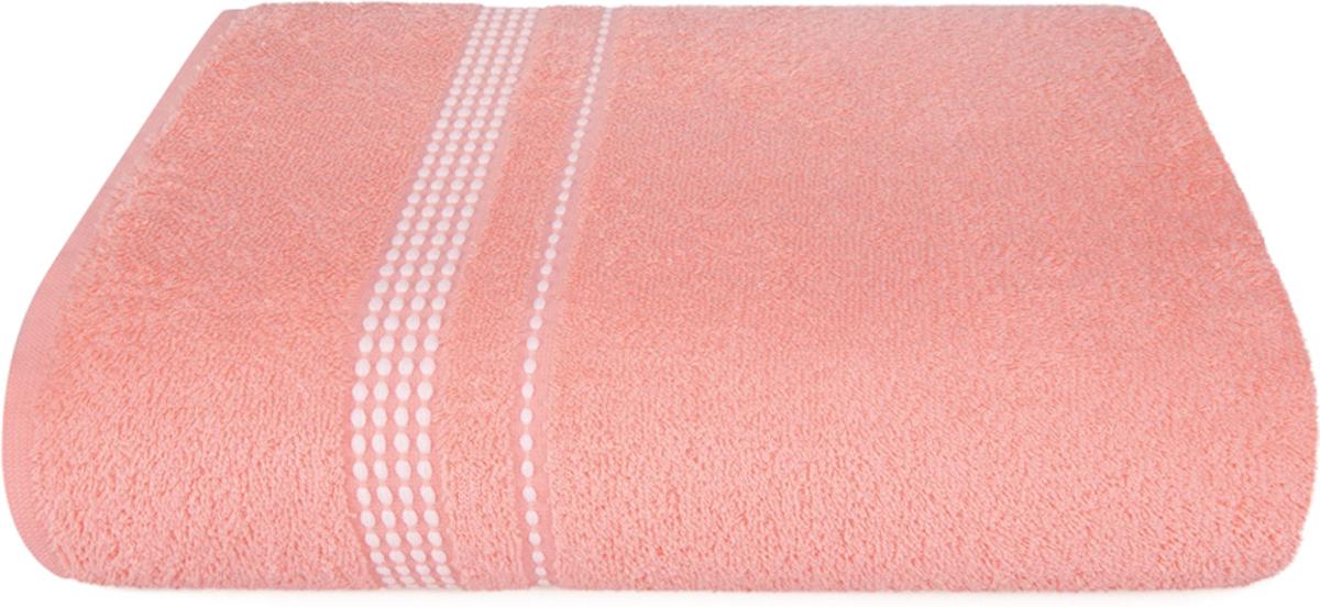 Полотенце махровое Aquarelle Лето, цвет: розово-персиковый, 70 x 140 см полотенце махровое aquarelle лето цвет орхидея 70 x 140 см