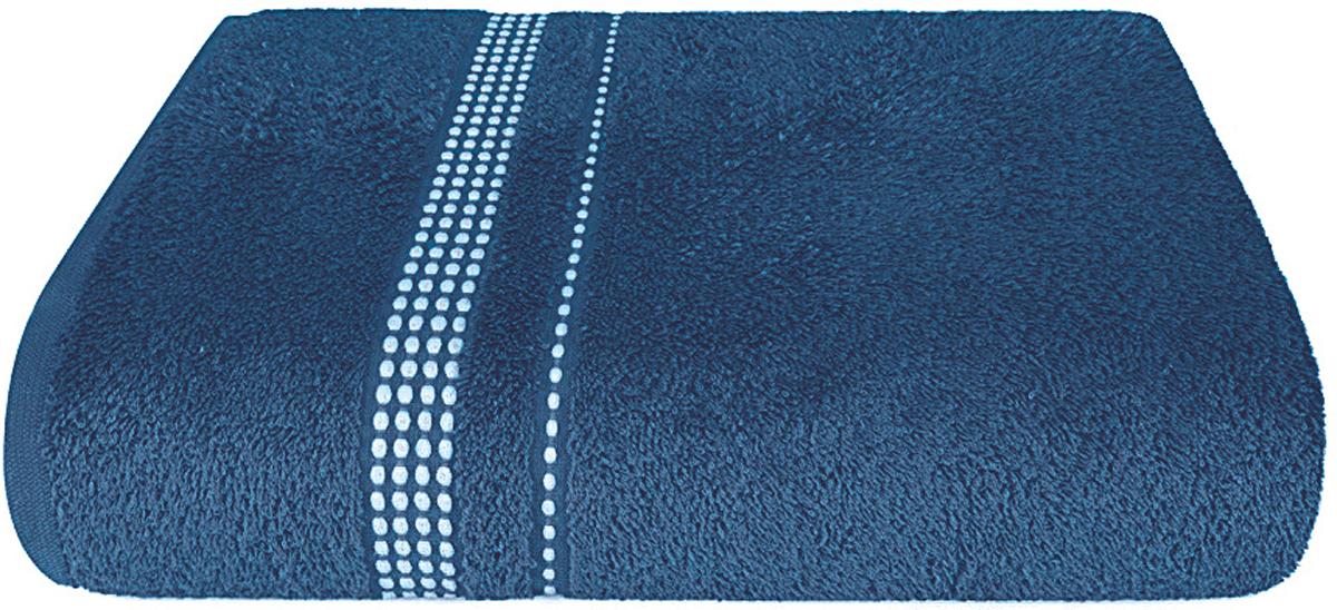 Полотенце махровое Aquarelle Лето, цвет: темно-синий, 70 x 140 см полотенце махровое aquarelle волна цвет ваниль 70 x 140 см