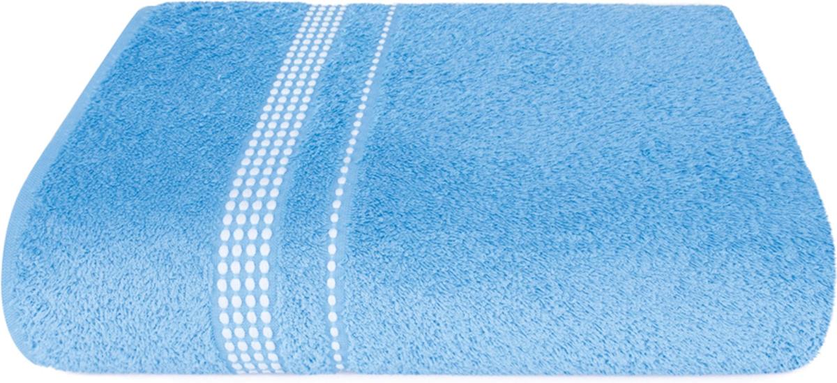 Полотенце махровое Aquarelle Лето, цвет: спокойный синий, 70 x 140 см полотенце махровое aquarelle волна цвет ваниль 70 x 140 см