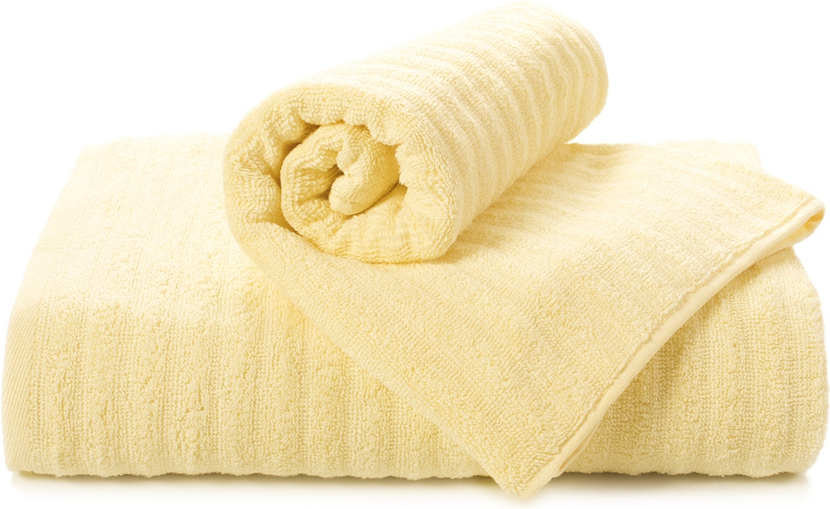 Полотенце махровое Aquarelle Волна, цвет: светло-желтый, 50 x 90 см полотенце махровое aquarelle волна цвет ваниль 70 x 140 см