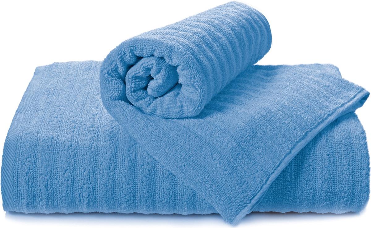 Полотенце махровое Aquarelle Волна, цвет: спокойный синий, 50 x 90 см полотенце махровое aquarelle волна цвет ваниль 70 x 140 см