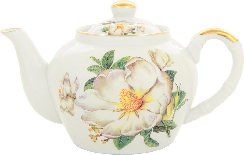 Чайник заварочный Elan Gallery Белый шиповник, с ситом, 700 мл цена