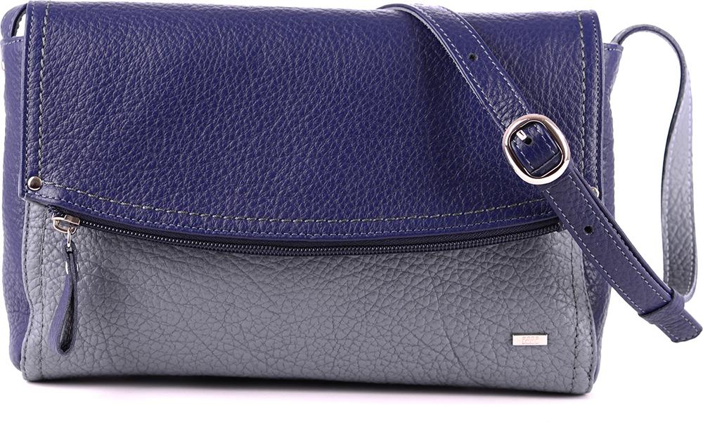 Сумка кросс-боди женская Esse Мелани, цвет: фиолетовый, серый. GMEL2U-00ML09-FG508O-K101 сумка женская esse изабелла gisl5u 00ml09 f9844o k101 розовый
