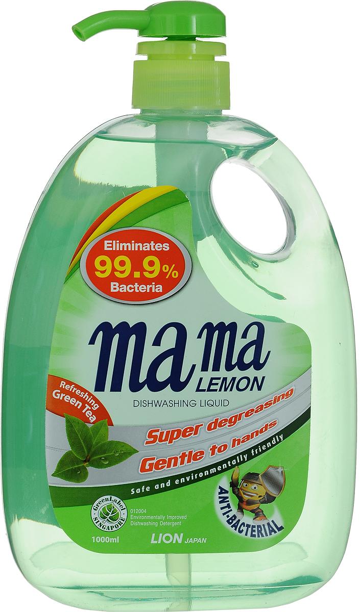 """Гель для мытья посуды и детских принадлежностей Mama Lemon """"Green Tea"""", концентрат, с ароматом зеленого чая, 1000 мл"""