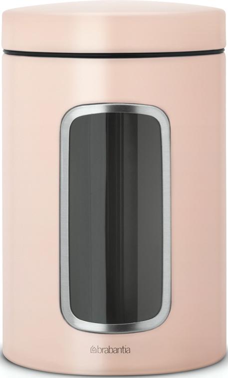 Контейнер для сыпучих продуктов Brabantia, с окном, цвет: розовый, 1,4 л brabantia контейнер для сыпучих продуктов с окном 1 4 л 484063 brabantia