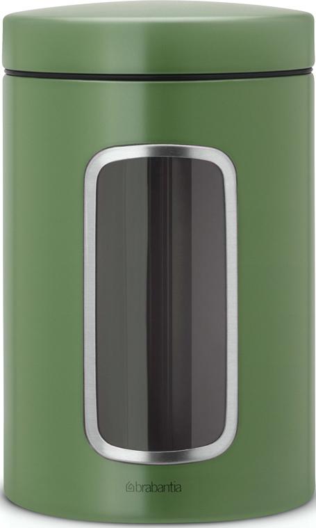 Контейнер для сыпучих продуктов Brabantia, с окном, цвет: зеленый, 1,4 л brabantia контейнер для сыпучих продуктов с окном 1 4 л 484063 brabantia