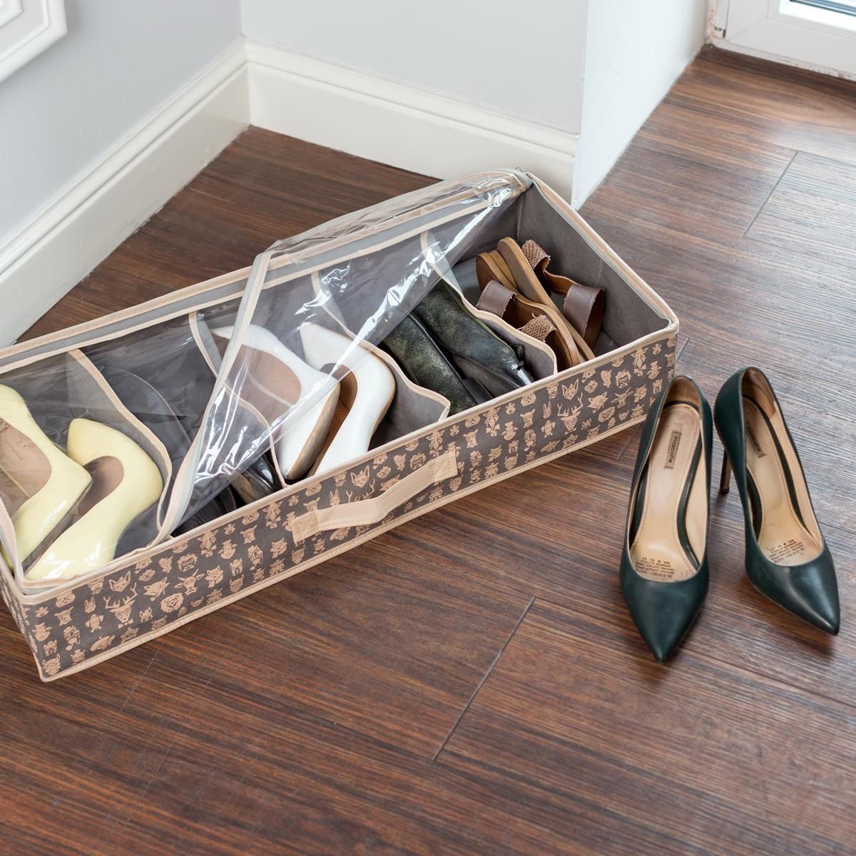 Органайзер для обуви Homsu Hipster Animals, 5 отделений, 66 х 32 х 11 см органайзер для хранения обуви homsu bora bora 52 х 26 х 12 см