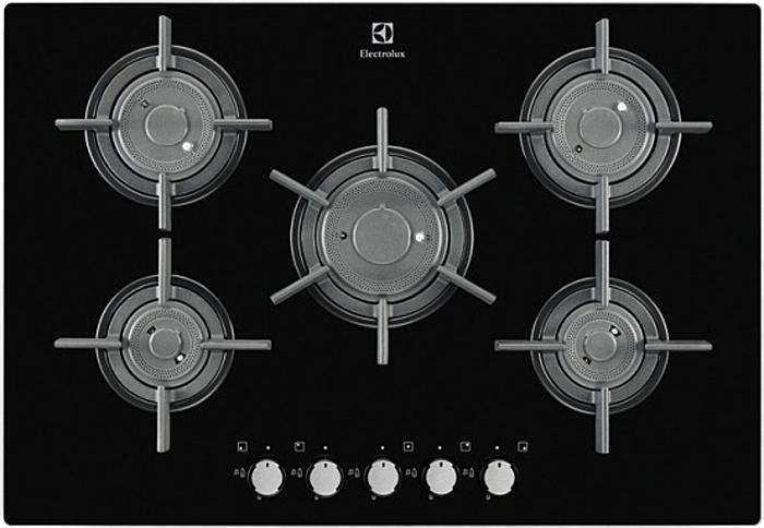 Панель варочная газовая встраиваемая Electrolux EGT 97657NK, Black Electrolux