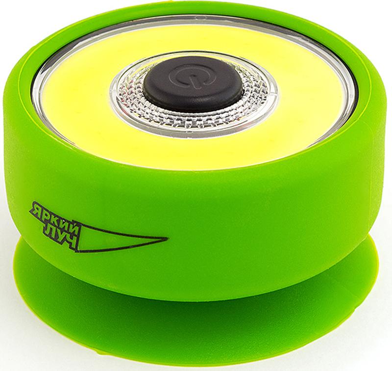 Фонарь кемпинговый Яркий луч Лягушка L-210, цвет: зеленый, 7,3 х 4,3 см фонарь яркий луч е1 206 поплавок обрезиненный водонепроницаемый корпус светодиод 1w на 2xaa