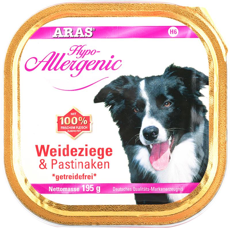 """Консервы для собак Aras """"Hipo-Allergenic"""", с козой и пастернаком, 195 г"""
