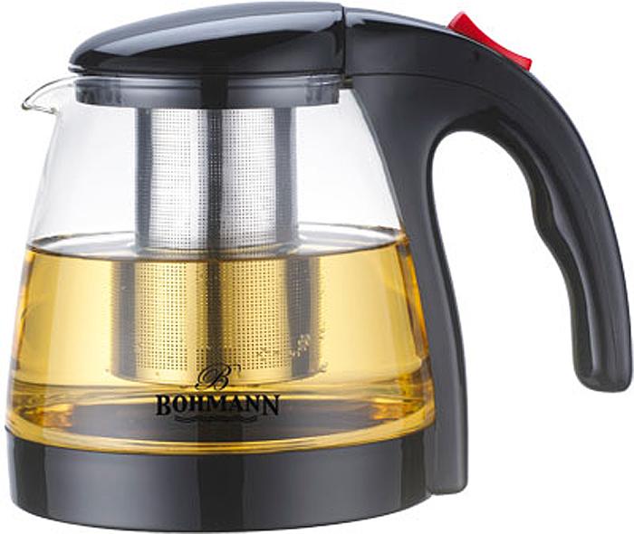 Чайник заварочный Bohmann, 9673BH, прозрачный, 1.3 л цены онлайн
