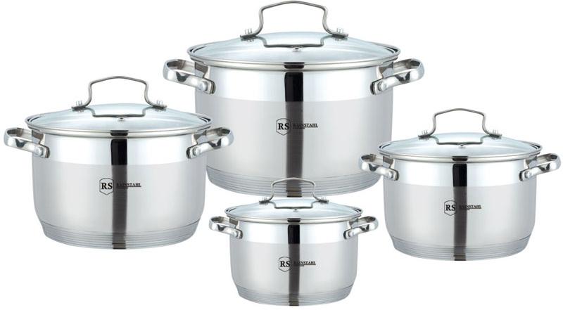 Набор посуды Rainstahl, цвет: серебристый, 8 предметов. 1855-08RS\CW набор посуды rainstahl 8 предметов 0716bh