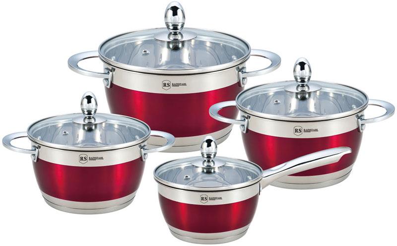 Набор посуды Rainstahl, цвет: красный, 8 предметов. 1818-08RS\CWRed набор посуды rainstahl 8 предметов 0716bh