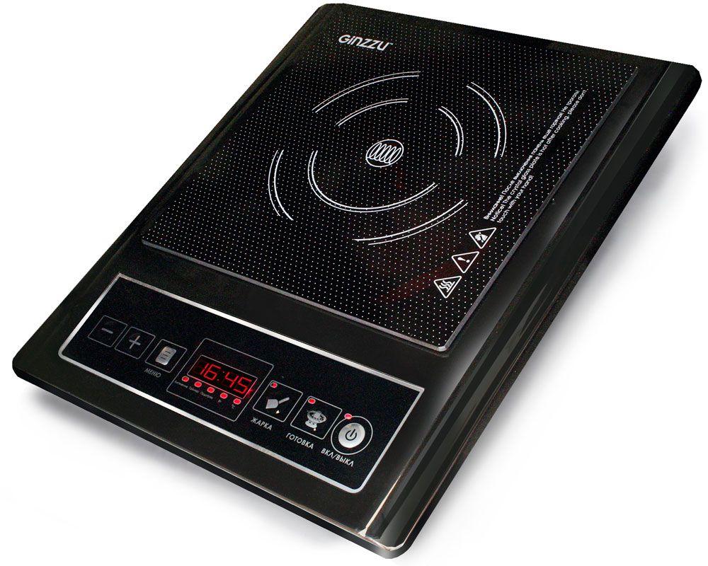 лучшая цена Настольная плита Ginzzu HCI-106, Black индукционная