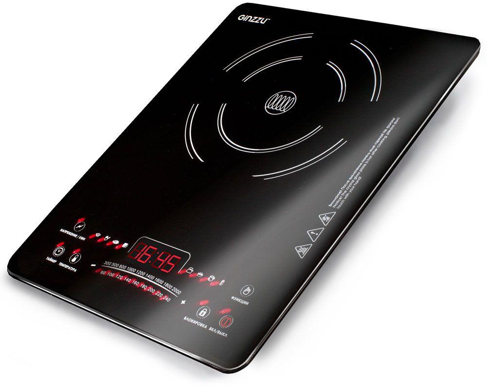 Настольная плита Ginzzu HCI-161, Black индукционная настольная плита ginzzu hci 226