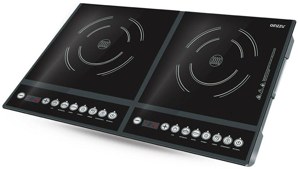 Настольная плита Ginzzu HCI-213, Black индукционная настольная плита ginzzu hci 226