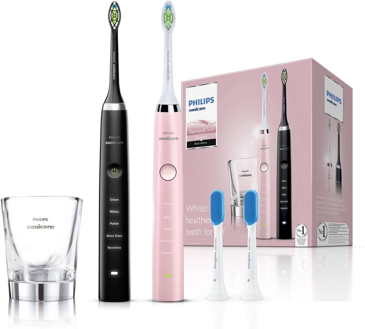 Philips HX9368/35, Black Pink набор электрических зубных щеток, 2 шт набор фильтров philips fc8066 01