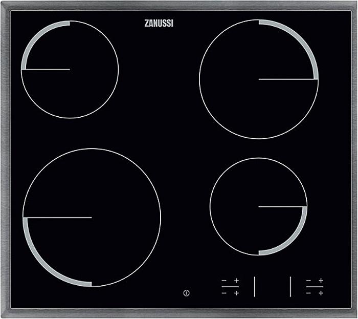 Варочная панель Zanussi ZEV 56340XB, электрическая, встраиваемая, черный