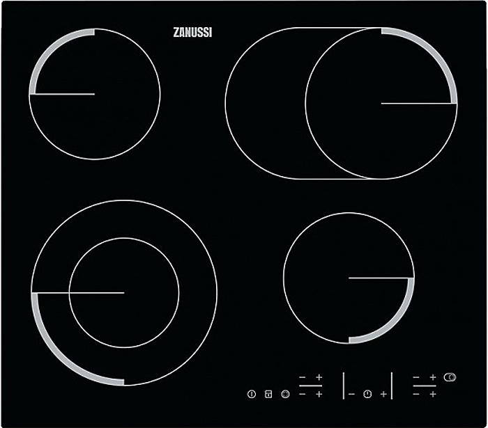 Варочная панель Zanussi ZEV 56646FB, электрическая, встраиваемая, черный