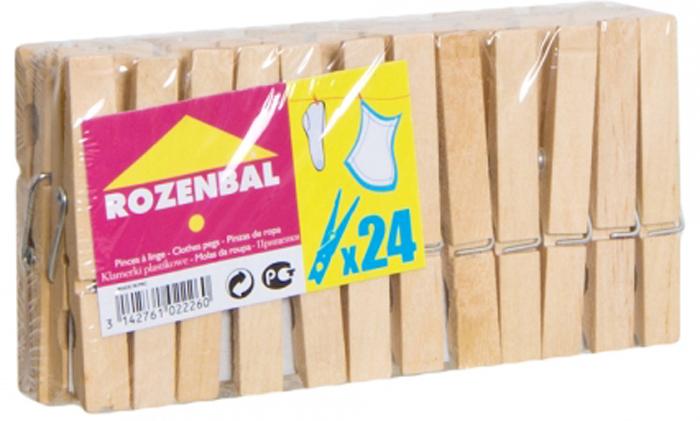 """Прищепки """"Rozenbal"""", деревянные, 24 шт. R102226"""
