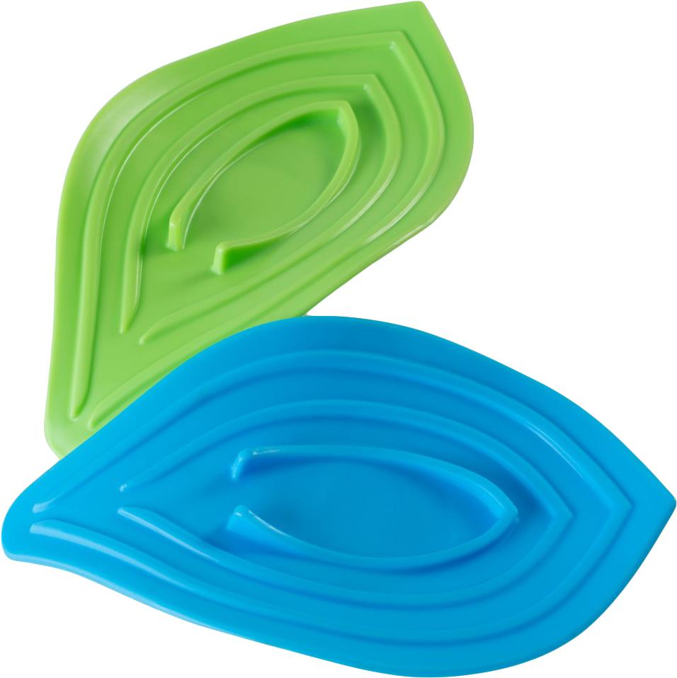 Мыльница Ruges Набор подставок на кухню для мыла и губки «Листики», Пластик