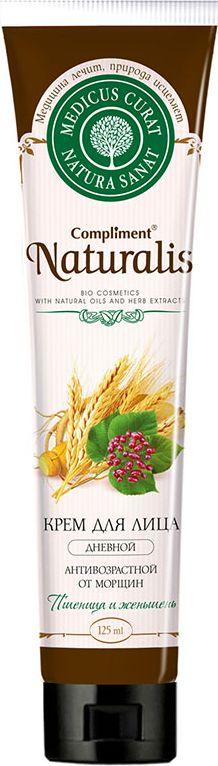 Compliment Натуралис Крем для лица дневной антивозрастной от морщин Пшеница и женьшень, 125 мл