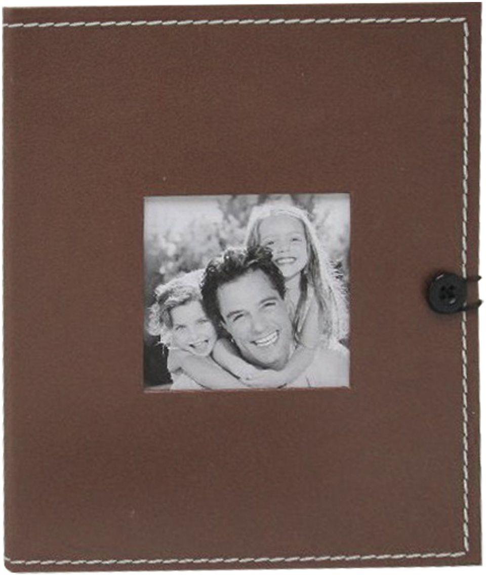 Фотоальбом Brauberg, с рамкой для фото, цвет: коричневый, 36 фотографий, 10 x 15 см. 390658 фотоальбом platinum классика 240 фотографий 10 x 15 см