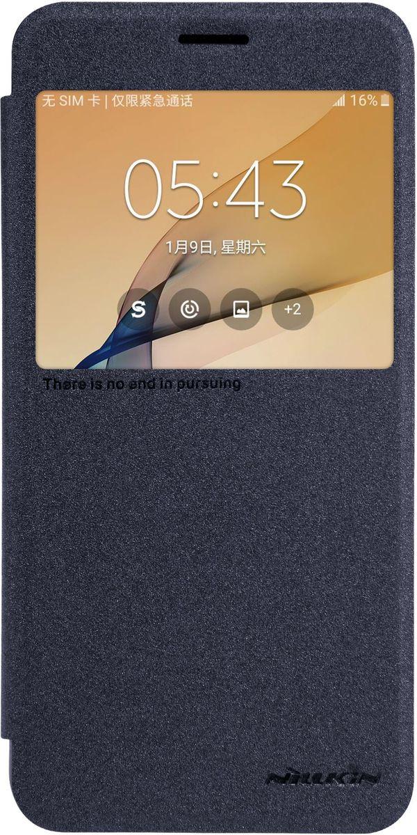 Nillkin Sparkle Leather Case чехол для Samsung Galaxy J7 Prime, Black смартфон samsung galaxy j7 2017 16gb black