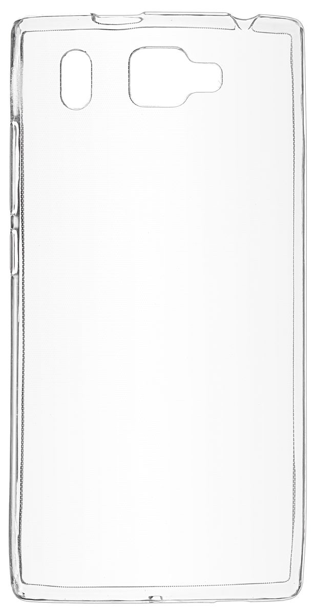 Skinbox Slim Silicone чехол-накладка для Prestigio Grace Q5, Transparent skinbox 4people slim silicone чехол накладка для xiaomi redmi 4a transparent