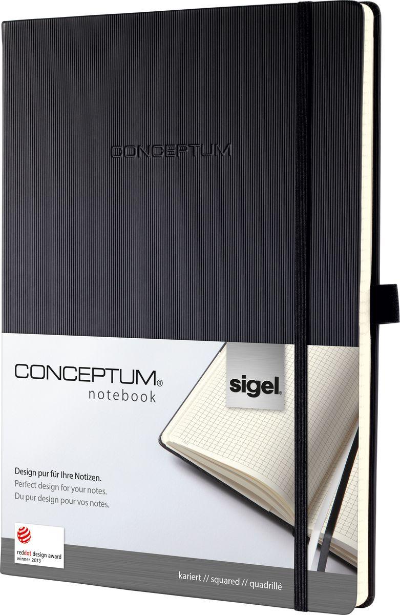Sigel Блокнот Conceptum Hardcover 97 листов в клетку формат A4 цвет черный