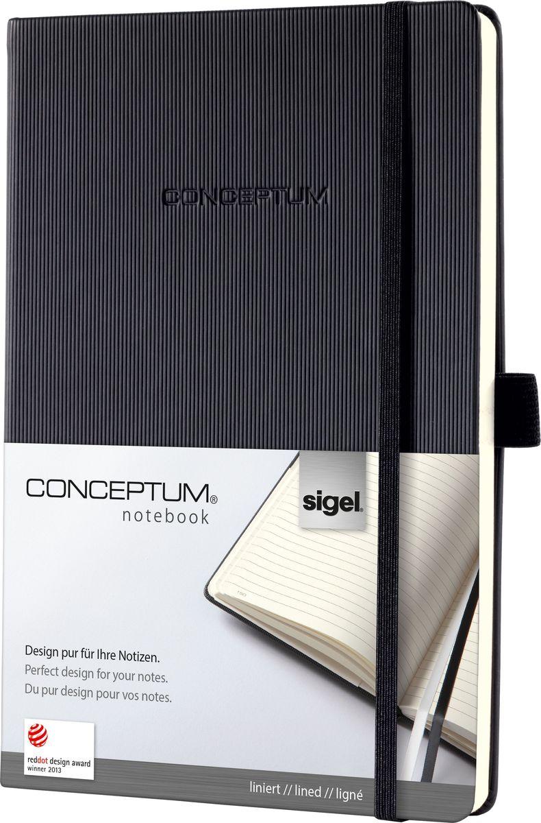 Sigel Блокнот Conceptum Hardcover 97 листов в линейку формат A5 цвет черный