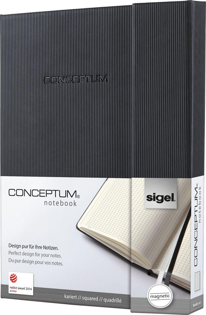 Sigel Блокнот Conceptum Hardcover 97 листов в клетку формат A5 цвет черный