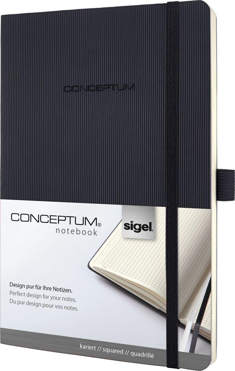 Sigel Блокнот Conceptum Softcover 97 листов в клетку формат A5 цвет черный