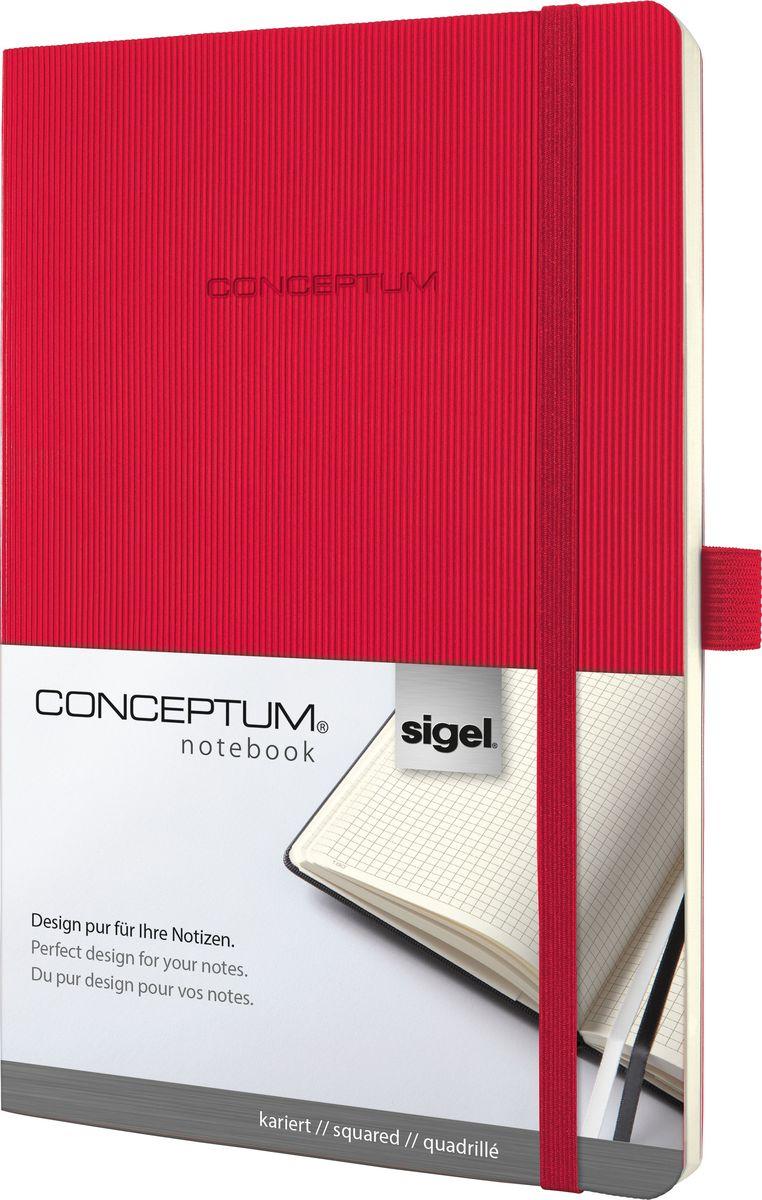 Sigel Блокнот Conceptum Hardcover цвет красный 97 листов в клетку