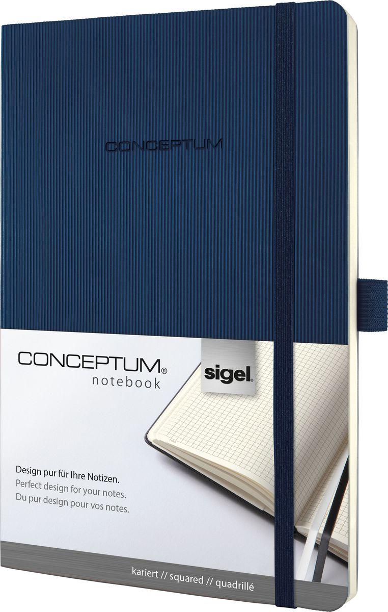 Sigel Блокнот Conceptum Softcover 97 листов в клетку формат A5 цвет темно-синий