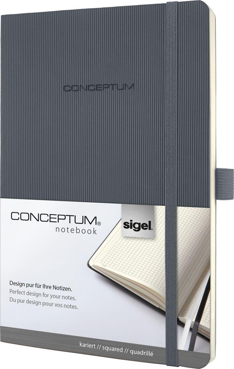 Sigel Блокнот Conceptum Softcover 97 листов в клетку формат A5 цвет темно-серый