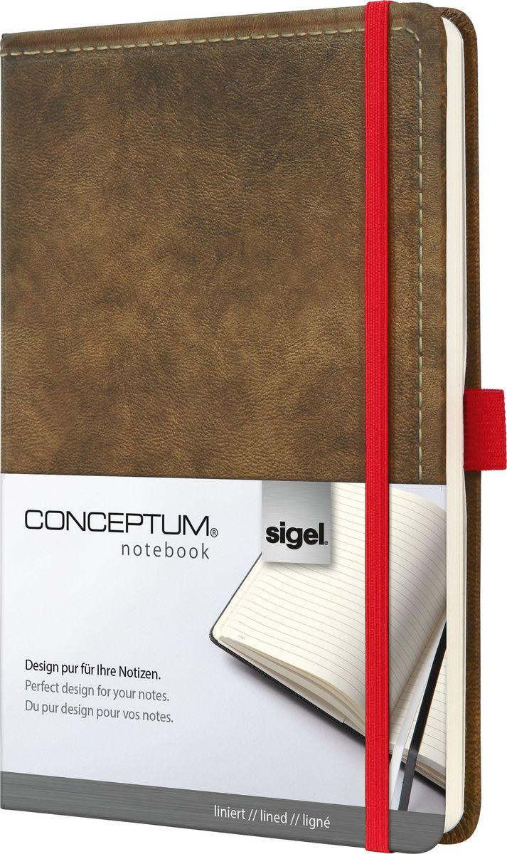 Sigel Блокнот Conceptum Vintage 97 листов в линейку цвет коричневый