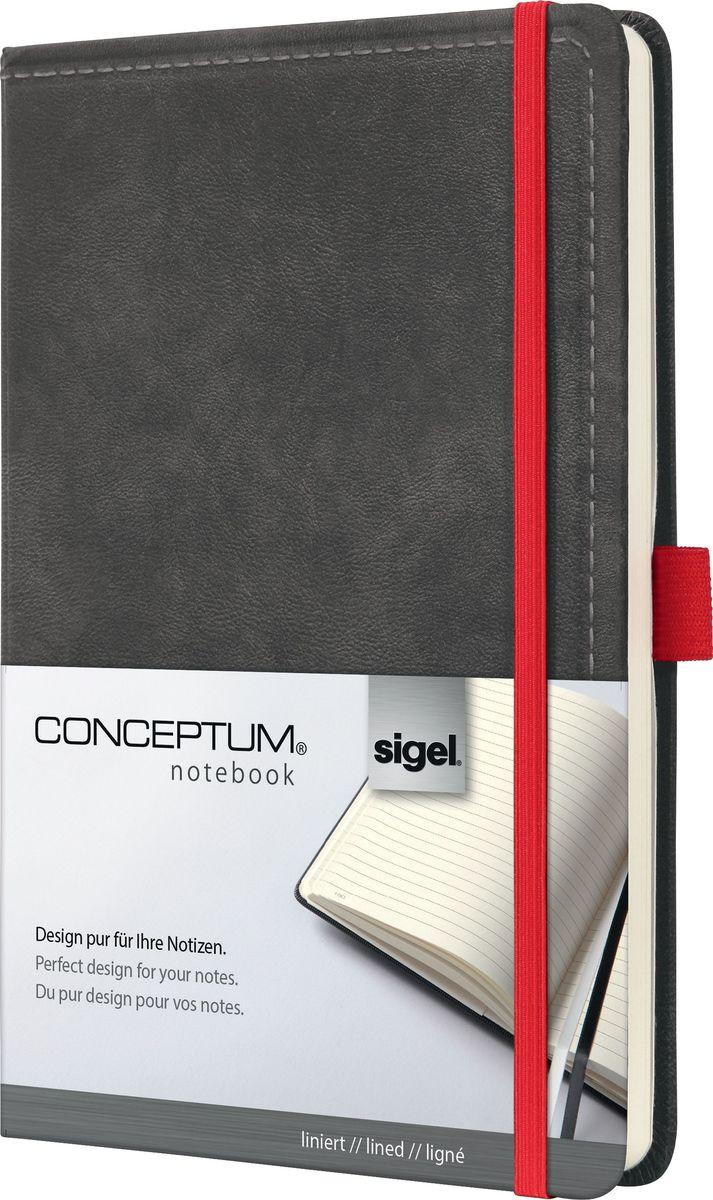 Sigel Блокнот Conceptum Vintage 97 листов в линейку цвет темно-серый