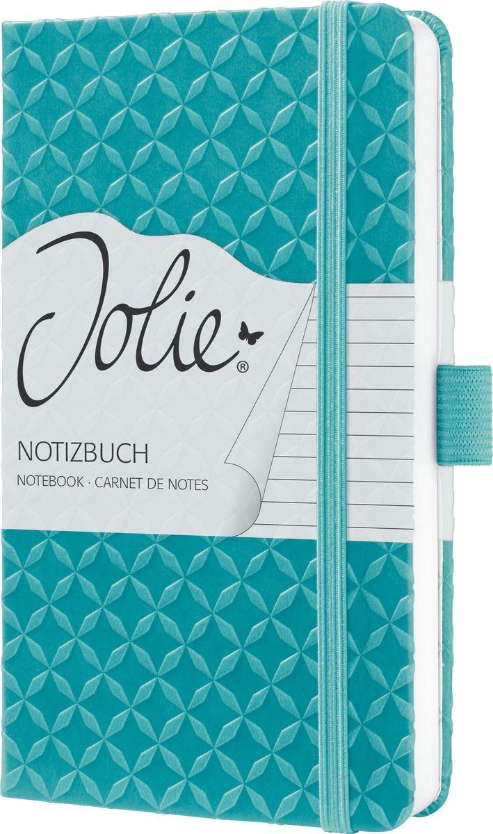Sigel Блокнот Jolie Flair цвет аквамарин 87 листов в линейку JN102 sigel блокнот jolie beauty розовая страсть 87 листов в линейку