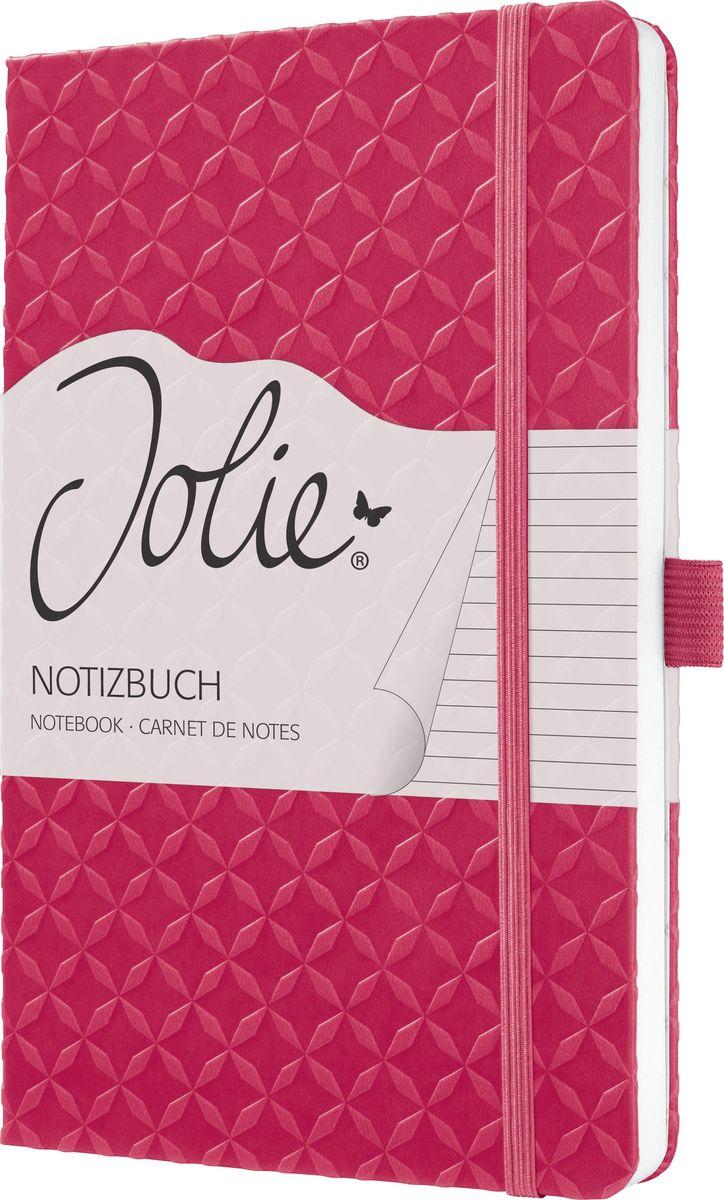 Sigel Блокнот Jolie Flair 87 листов в линейку цвет фуксия JN105