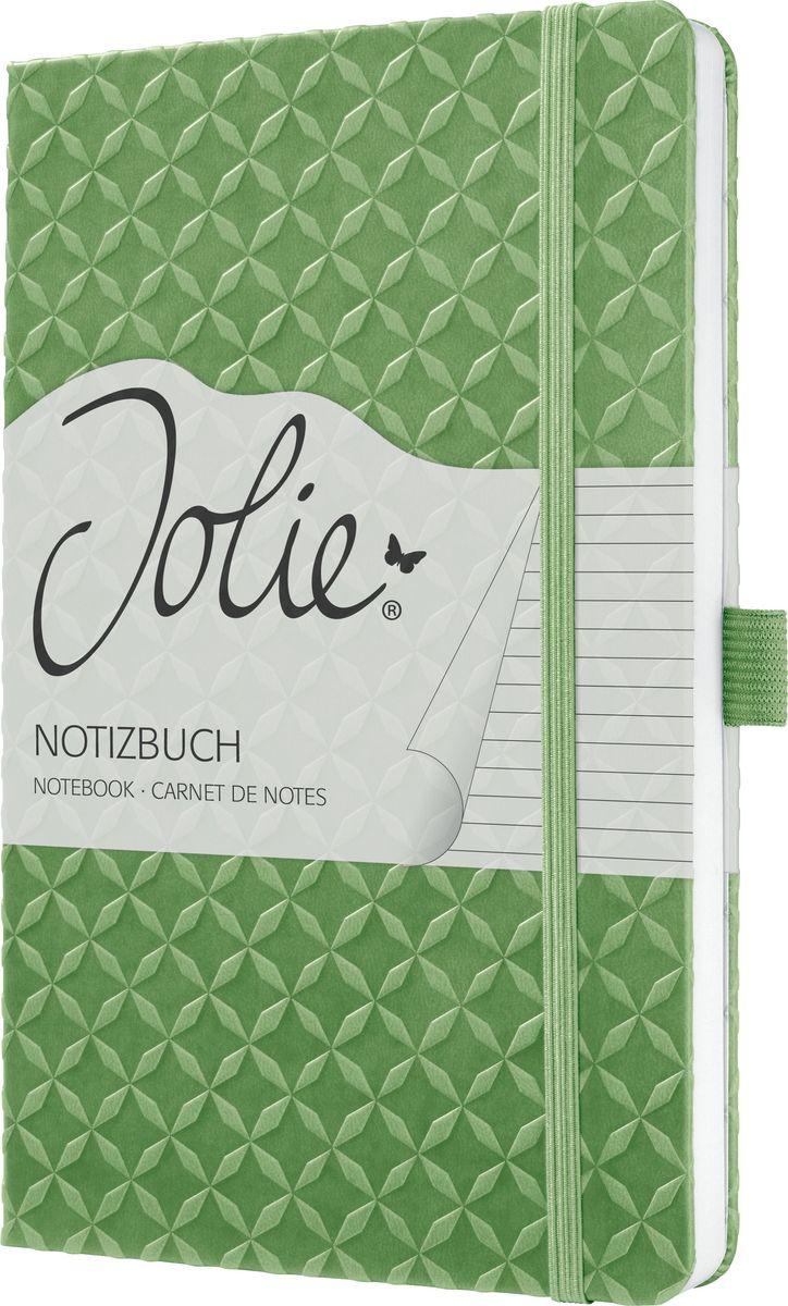 Sigel Блокнот Jolie Flair 87 листов в линейку цвет светло-зеленый JN113 sigel блокнот jolie beauty розовая страсть 87 листов в линейку