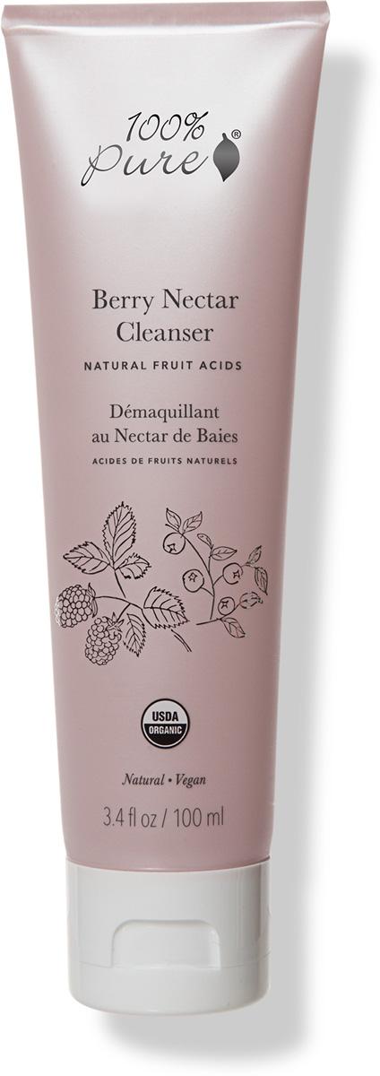100% Pure Органическое очищающее средство с натуральными фруктовыми кислотами Ягодный микс, 100 мл