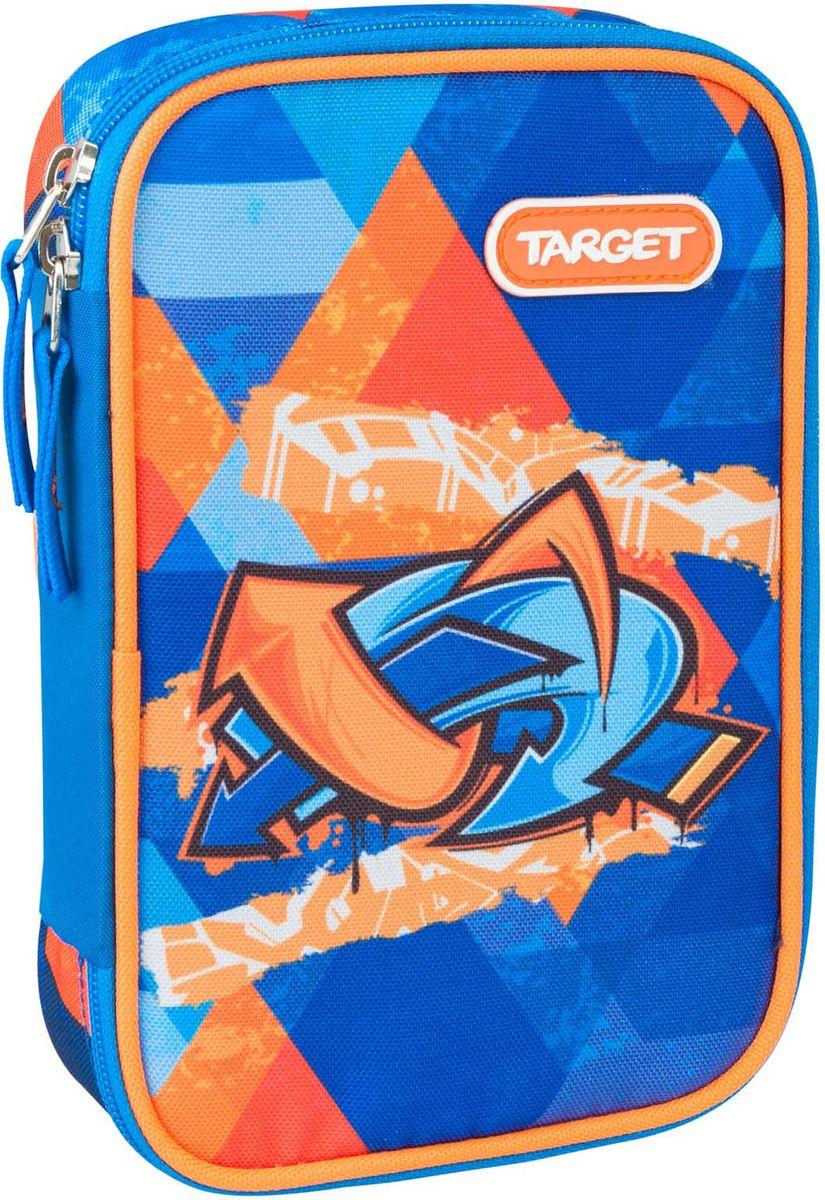 Target Пенал Murales цвет синий с наполнением