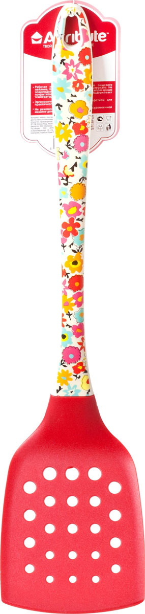 "Лопатка кулинарная Attribute Gadget ""Blossom"", цвет: красный. AGB310"