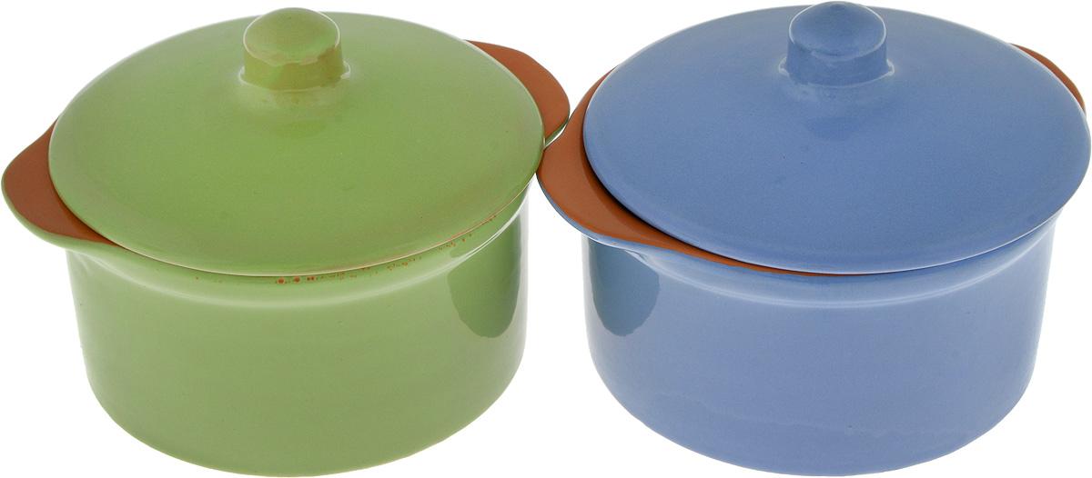 Кастрюля Борисовская керамика Радуга, цвет: синий, салатовый, 500 мл, 2 штРАД14456738_синий, салатовыйКастрюля Борисовская керамика Радуга выполнена из высококачественной термостойкой керамики. Покрытие абсолютно безопасно для здоровья, не содержит вредных веществ. Керамика предотвращает прилипание пищи и обеспечивает превосходные результаты. Посуда имеет элегантный корпус и привлекательный внешний вид. Кастрюля оснащена удобными боковыми ручками и керамической крышкой. Она плотно прилегает к краям посуды, сохраняя аромат блюд.